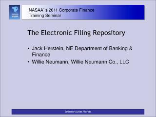 The Electronic Filing Repository
