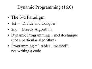 Dynamic Programming (16.0)