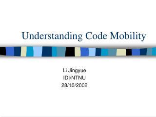 Understanding Code Mobility