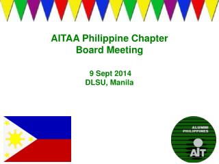 AITAA Philippine Chapter Board Meeting  9 Sept 2014 DLSU, Manila