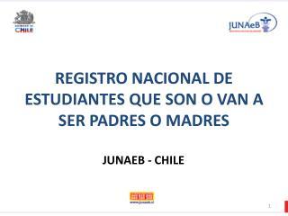 REGISTRO NACIONAL DE ESTUDIANTES QUE SON O VAN A SER PADRES O MADRES