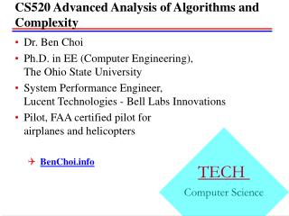 CS520 Advanced Analysis of Algorithms and Complexity