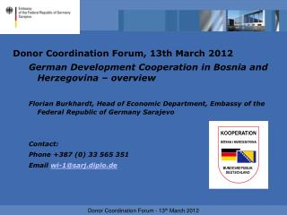 Donor Coordination Forum, 13th March 2012