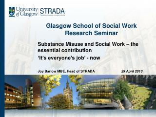 Glasgow School of Social Work Research Seminar