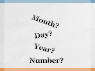 Month?