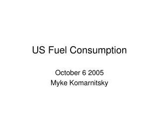 US Fuel Consumption