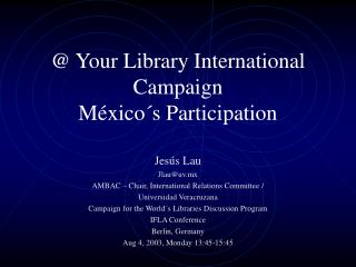 @ Your Library International Campaign México´s Participation