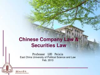 Chinese Company Law & Securities Law