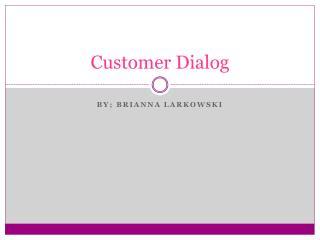 Customer Dialog