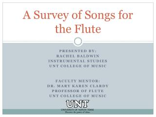 A Survey of Songs for the Flute