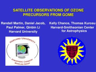 SATELLITE OBSERVATIONS OF OZONE PRECURSORS FROM GOME