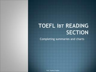 TOEFL Ibt READING SECTION