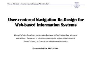 User-centered Navigation Re-Design for Web-based Information Systems
