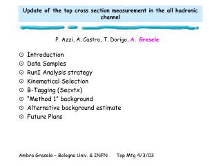 Update of the top cross section measurement in the all hadronic channel