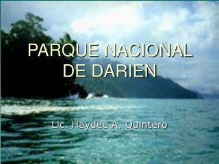 PARQUE NACIONAL DE DARIEN