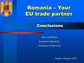 Romania – Your EU trade partner