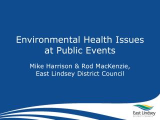 Environmental Health Issues at Public Events