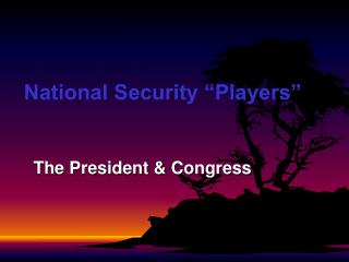 "National Security ""Players"""