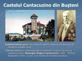 Castelul Cantacuzino din Buşteni