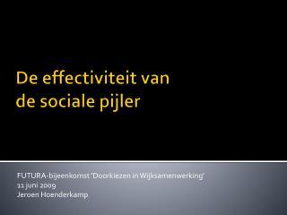 De effectiviteit van  de sociale pijler
