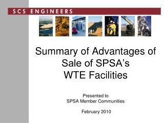 Summary of Advantages of Sale of SPSA's  WTE Facilities Presented to SPSA Member Communities