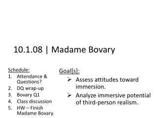 10.1.08 | Madame Bovary