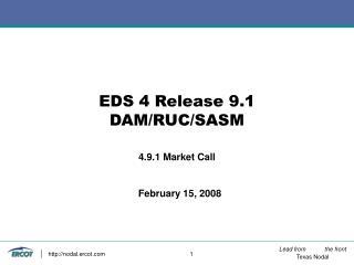 EDS 4 Release 9.1 DAM/RUC/SASM
