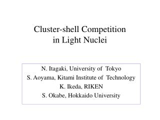 Cluster-shell Competition  in Light Nuclei