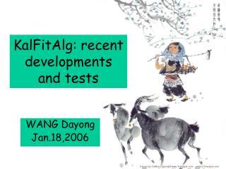 KalFitAlg: recent developments and tests