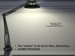 """The """"mother"""" of all horror films…directed by… ALFRED HITCHCOCK"""