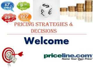 Pricing strategies & decisions