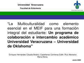 Universidad  Veracruzana Facultad de Enfermería