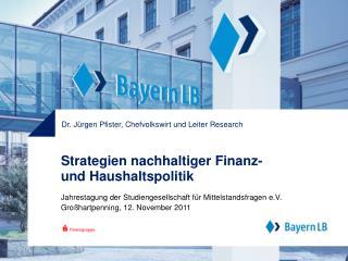 Strategien nachhaltiger Finanz- und Haushaltspolitik