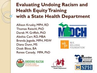 Evaluating Undoing Racism and Health Equity Training  with a State Health Department