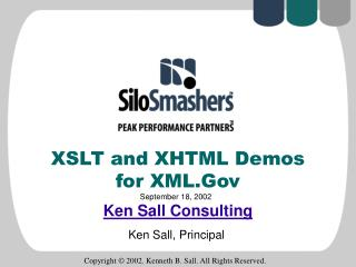 XSLT and XHTML Demos  for XML.Gov