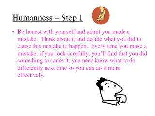 Humanness – Step 1
