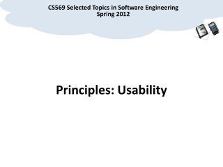 Principles: Usability
