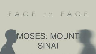 MOSES: MOUNT SINAI