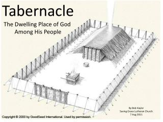 Tabernacle The Dwelling Place of God  Among His People