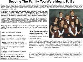 Become The Family You Were Meant To Be