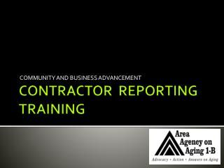 CONTRACTOR  REPORTING  TRAINING