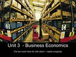 Unit 3  - Business Economics
