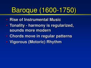 Baroque (1600-1750)