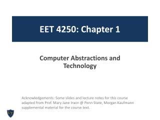 E ET  4250: Chapter 1