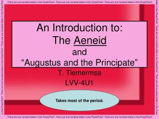 "An Introduction to: The  Aeneid and  ""Augustus and the Principate"""