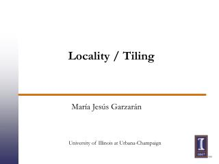 Locality / Tiling