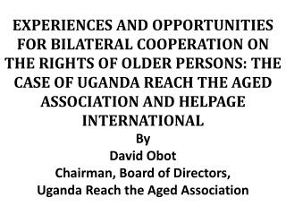UGANDA REACH THE AGED ASSOCIATION