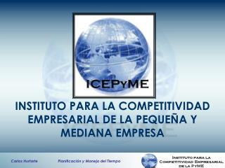 INSTITUTO PARA LA COMPETITIVIDAD EMPRESARIAL DE LA PEQUE�A Y MEDIANA EMPRESA