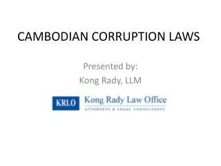 CAMBODIAN CORRUPTION LAWS
