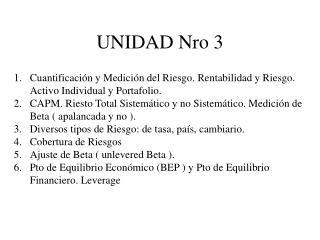 UNIDAD Nro 3